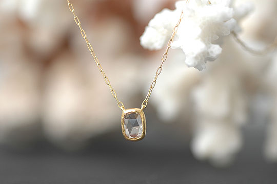 Square Rosecut Diamond Necklace - SOURCE CLASSICS - SOURCE objects