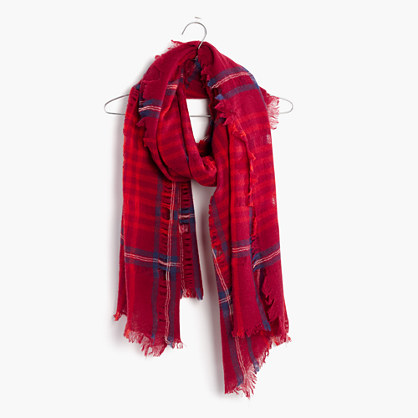 Cardinal Plaid Scarf : AllProducts   Madewell