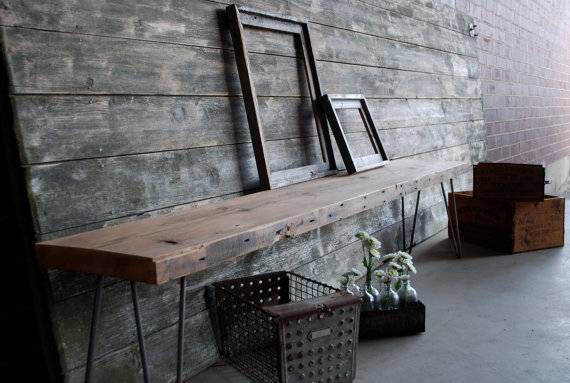 Reclaimed Wood Bench Free & Fast Shipping 6ft x by UrbanWoodGoods