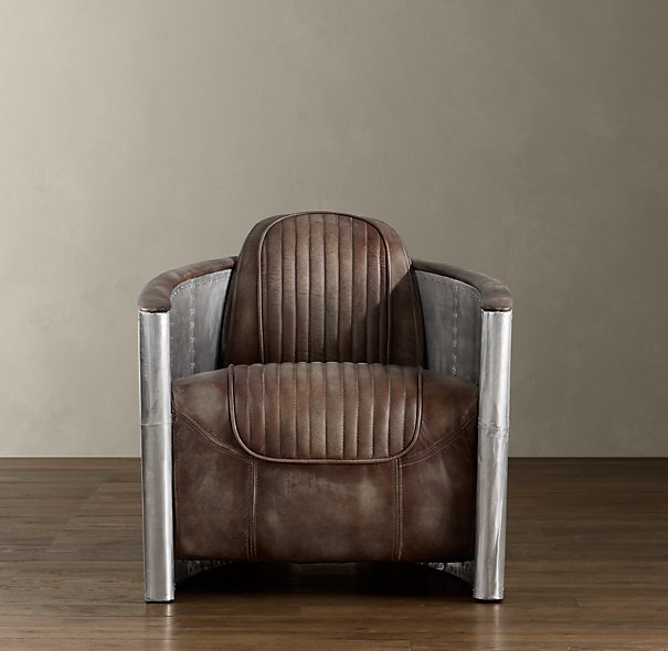 Fancy - Distressed Leather Aviator Chair