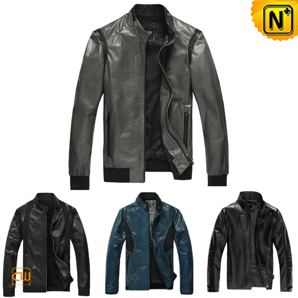 Slim Fitted Leather Jacket uk CW138450 - cwmalls.com on Behance