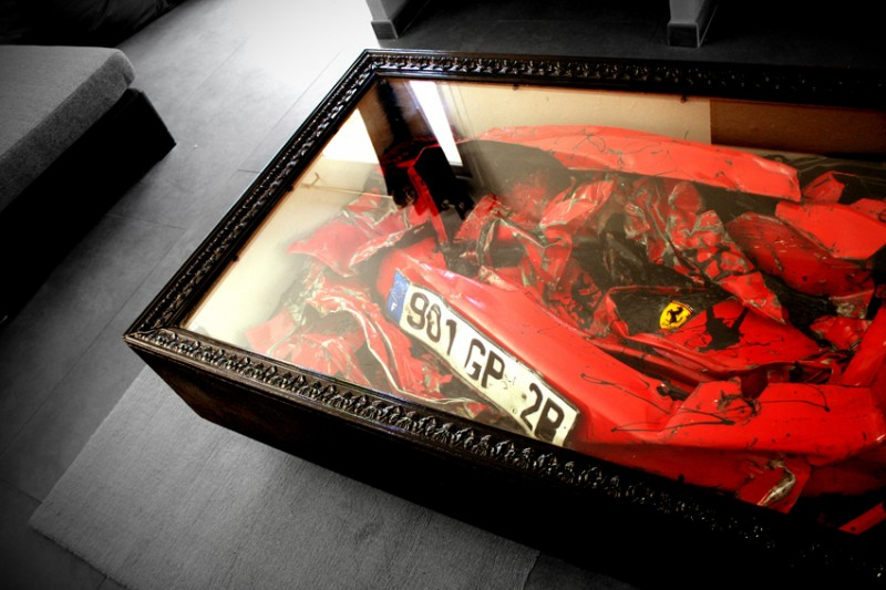 Crashed Ferrari Table | Charly Molinelli