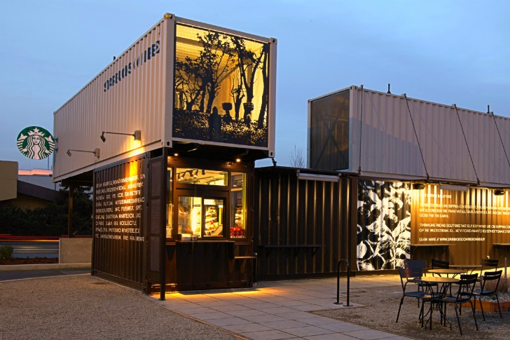 Starbucks opens store made from recycled shipping containers | SmartPlanet