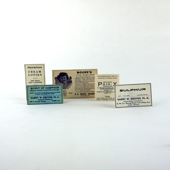 Etsy Transaction - Antique & Vintage Pharmacy Medicine Bottle Paper Labels