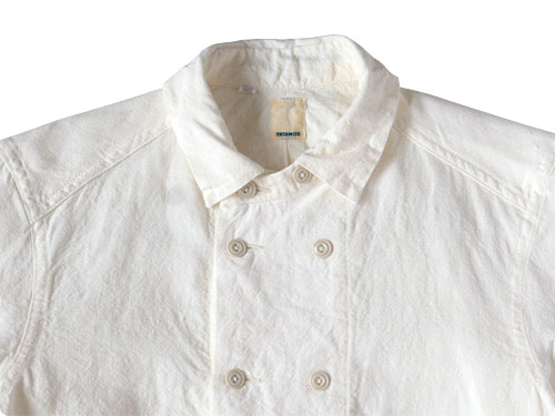 TATAMIZE DOUBLE BRESTED LINEN SHIRTS OFF WHITE - maillot MARGARET HOWELL MHL. homspun EELの通販 rusk