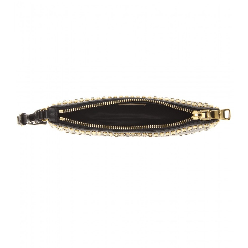 mytheresa.com - Studded leather clutch - Clutch bags - Bags - Luxury Fashion for Women / Designer clothing, shoes, bags