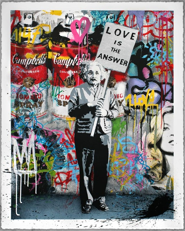 """Love is the Answer"" by Mr. Brainwash 