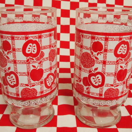 Anchor Hocking Red Apple Tumbler (L) | Jadeite Magic Gallery