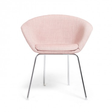 Arper Pale Pink Duna Lounge Chair