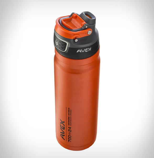 AVEX® - AVEX FREEFLOW AUTOSEAL STAINLESS WATER BOTTLE