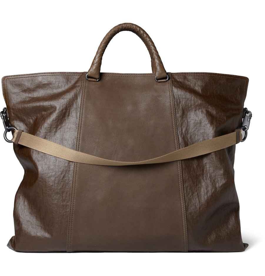 Bottega Veneta Coated-Linen and Leather Tote Bag | MR PORTER