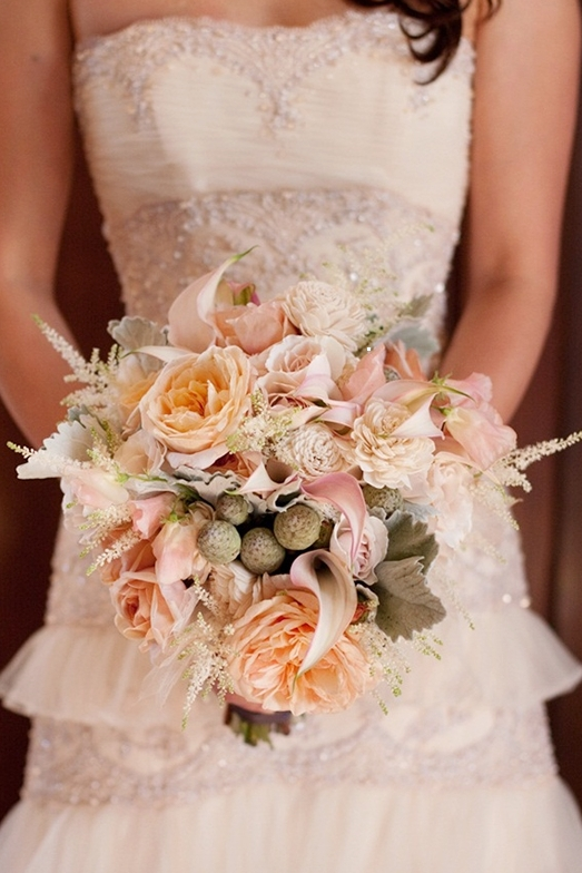 Shabby Chic Wedding With A Formal Twist (bouquets calla lily cream garden asiel design maggie sottero) - Lover.ly