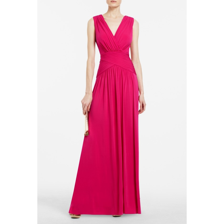 BCBGMAXAZRIA - SHOP BY CATEGORY: DRESSES: VIEW ALL: KAEYA DRAPED EVENING GOWN