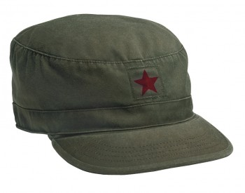 Rothco Vintage Fatigue Cap with Red Star