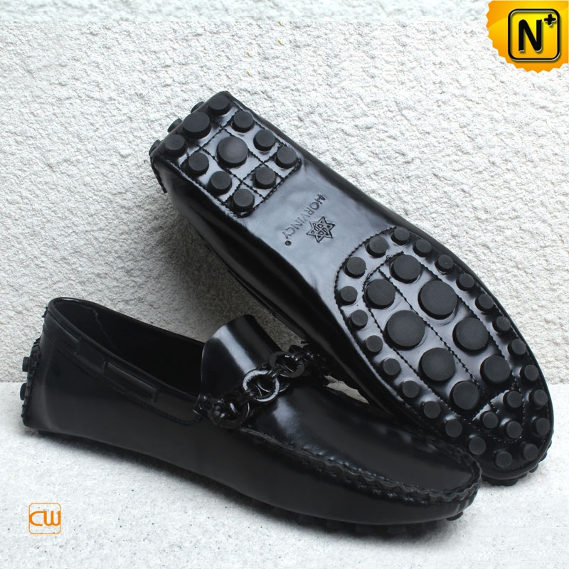 Mens Patent Leather Driving Moccasin Shoes CW740163