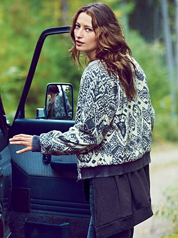 Free People Love Story Quilted Bomber at Free People Clothing Boutique