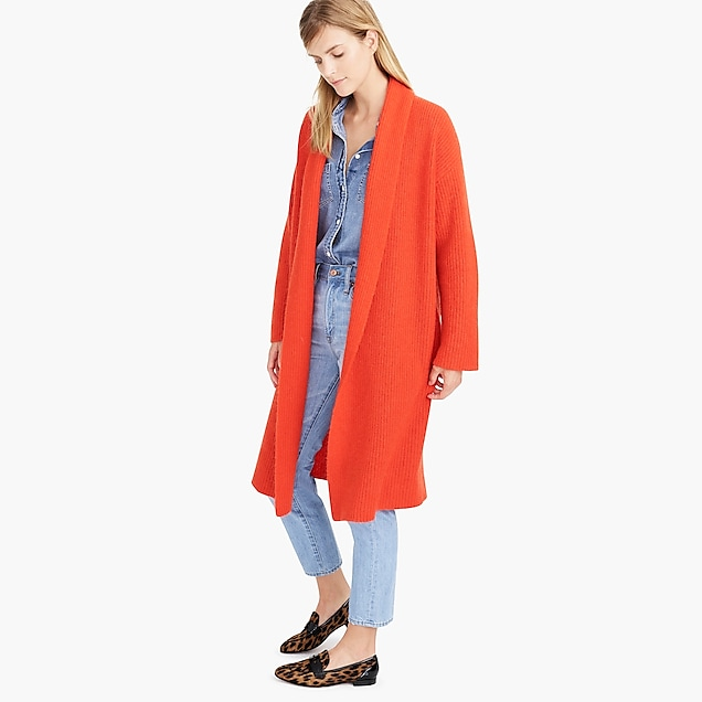 Demylee™ X J.Crew long open-front cardigan sweater : Women cardigan | J.Crew