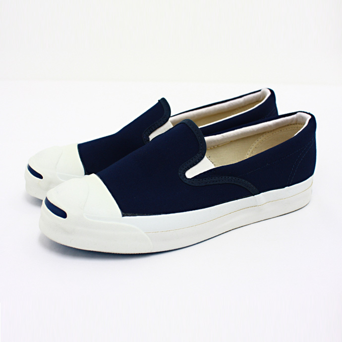 Converse Jack Purcell Slip-on (Made in U.S.A.) - Navy(アメリカ製 コンバース ジャックパーセル スリッポン ネイビー) - Eight Hundred Ships & Co.