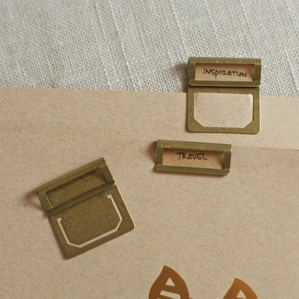 Brass tabs #stationery #tabs #cute #office #supplies | Wishing for