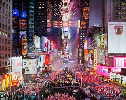 New Years Eve on Times Square, New York, New York