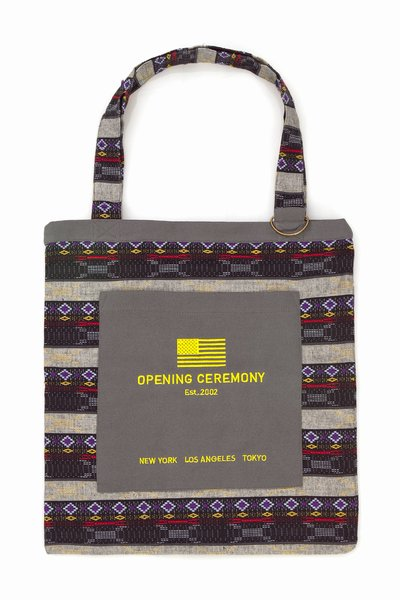 OPENING CEREMONY JACQUARD TOTE BAG - BLACK - UA10 - MEN - BAGS - OPENING CEREMONY