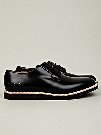 Common Projects Men's Shiny Derby Shoe at セレクトショップ oki-ni