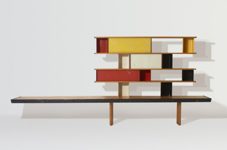 158: Charlotte Perriand, Jean Prouvé and Sonia Delaunay / Bibliothèque from the Maison de la Tunisie < Important Design, 18 May 2008 < Auctions | Wright