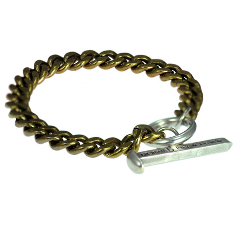 Giles & Brother - Brass and Sterling Silver Toggle Bracelet