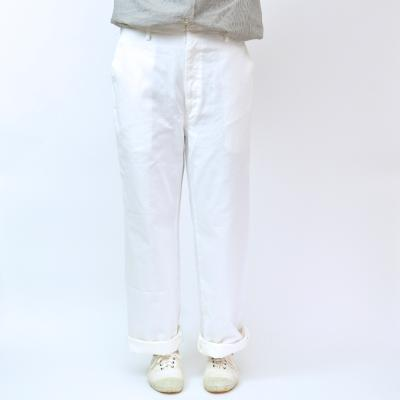【maindish】WHITE STANDARD PANTS