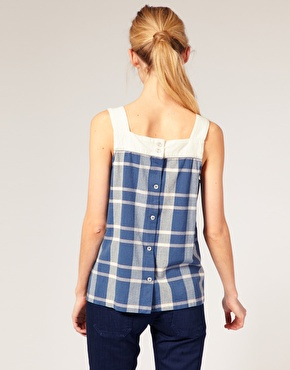 A.P.C Madras | A.P.C. Madras Check Top at ASOS
