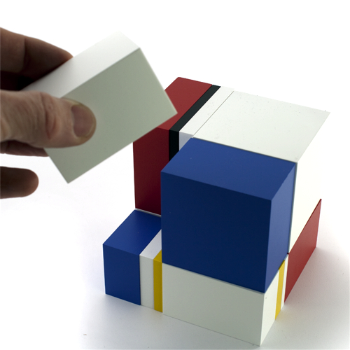 Jo Niemeyer wood block toy based on the golden mean, produced by Naef Spiele