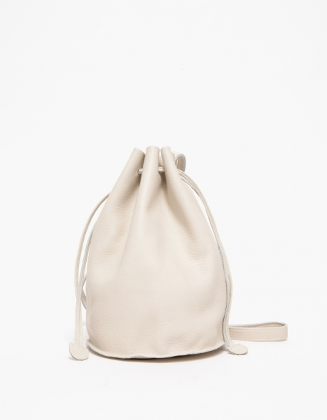 Drawstring Purse in Cream