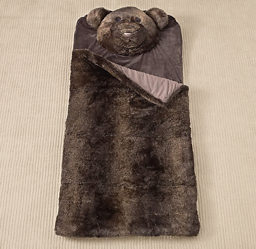Luxe Faux Fur Animal Sleeping Bag | Sleeping Bags | Restoration Hardware Baby & Child
