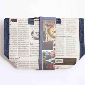 News paper bag (denimtoto ) / 5枚セット - BONDO