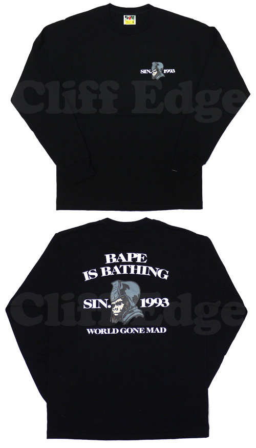 【楽天市場】A BATHING APE(エイプ)BAPE IS BATHING GENERAL 長袖Tシャツ【新品】BLACK202-000460-041[1910-111-016]-:Cliff Edge