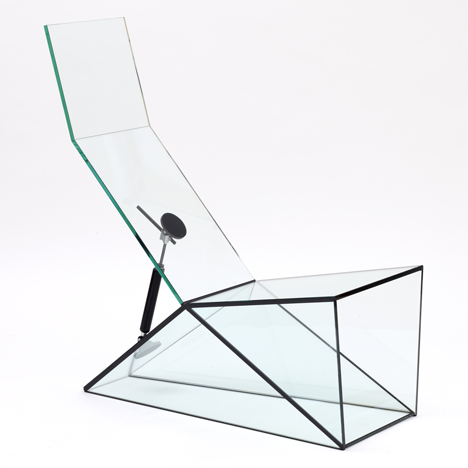 Konstantin Grcic designs moving glass furniture for Galerie Kreo
