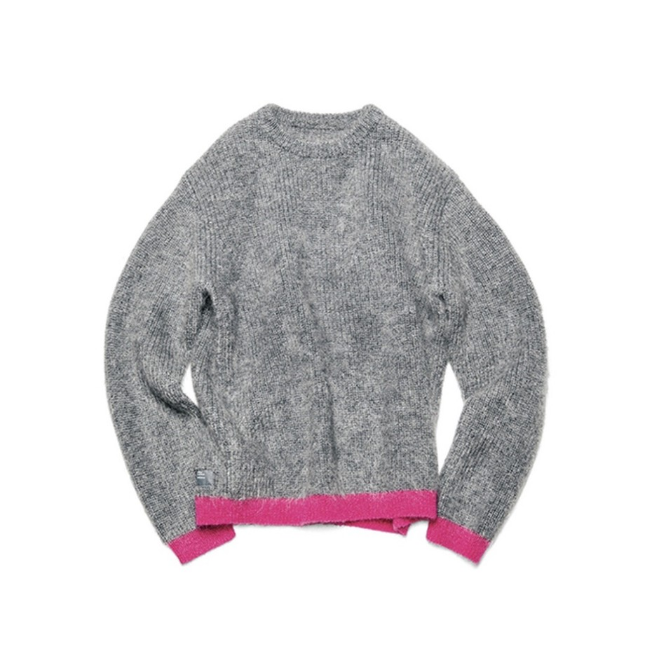 SOPH. | MOHAIR CREW NECK KNIT(2 GRAY):