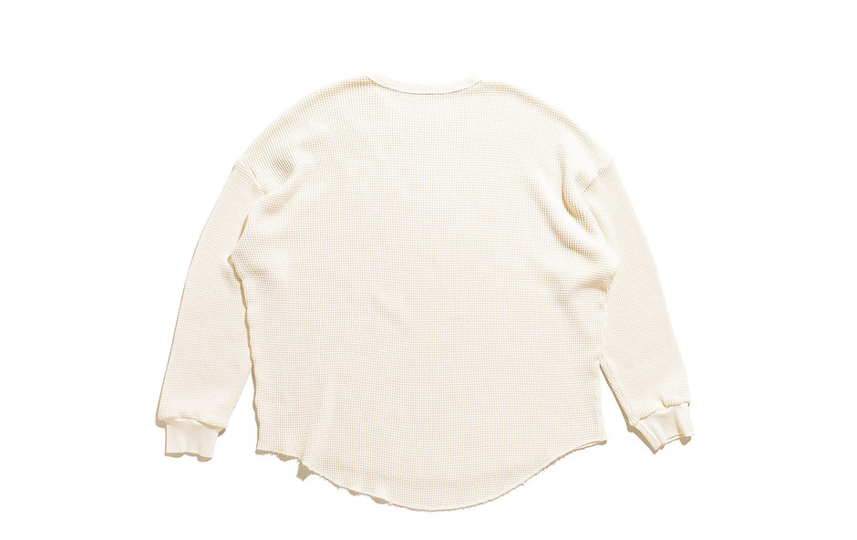 Suvin Waffle Crew Neck L/S-Ivory