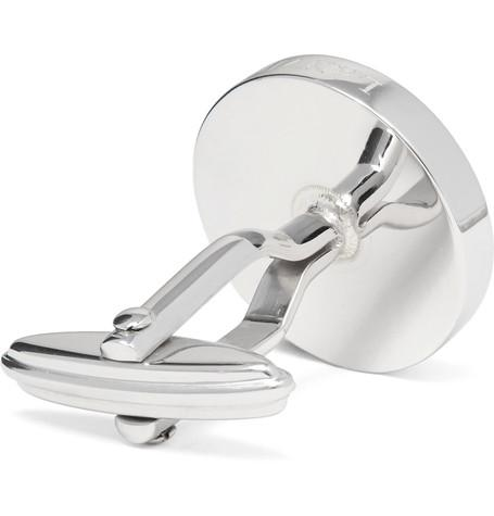 Lanvin - Silver-Tone Mother-of-Pearl Cufflinks