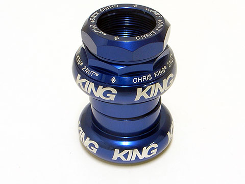 Chris King 2 Nut 1inch / Blue - 名古屋の自転車屋|Circles