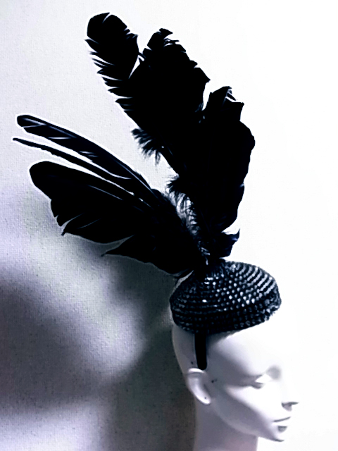 Prism-gem blog | Head piece : Oversized Wings and Crystal hat ...