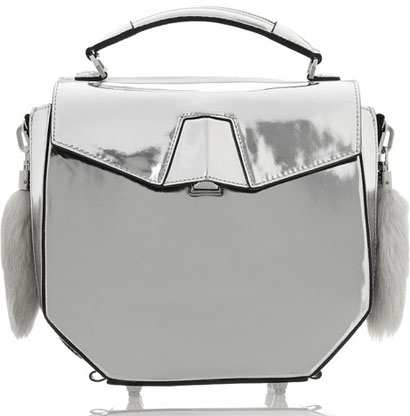 Alexander Wang Devere Metallic Leather Shoulder Bag - Purses, Designer Handbags and Reviews at The Purse Page