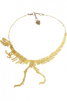 Dinosaur Necklace - gold - Jewellery
