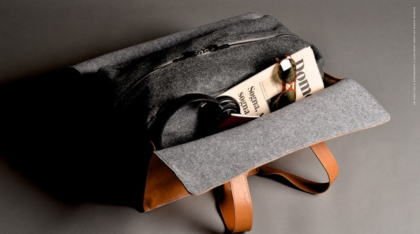 1st Edition Leather and Wool Travel Bag | hard graft