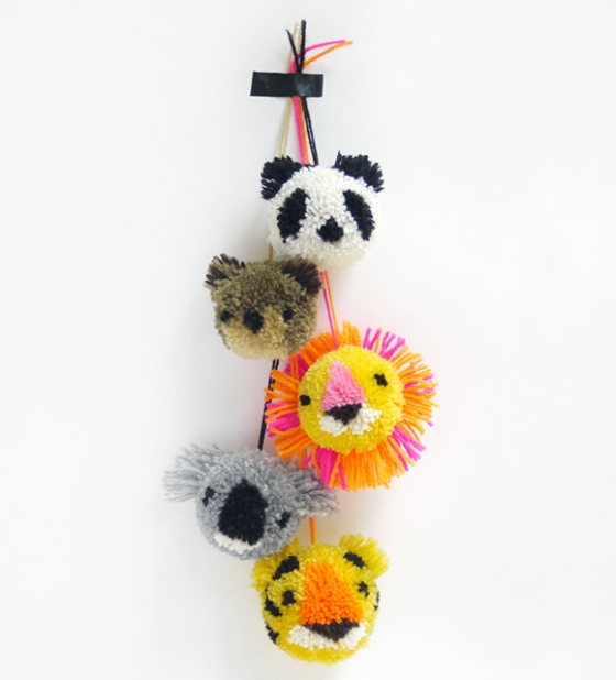Lions and Tigers and Pom-Poms Oh My | Little Gatherer