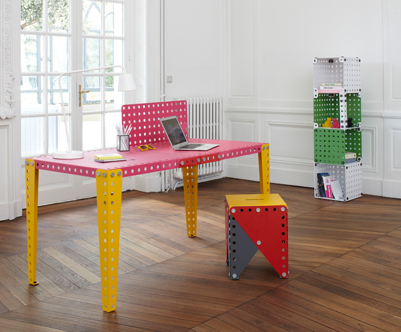 MECCANO metal modules offer evolving furniture elements for the home