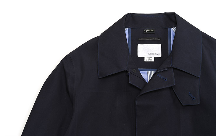 nanamica/GORE TEX Single Trench Coat-Marin Navy