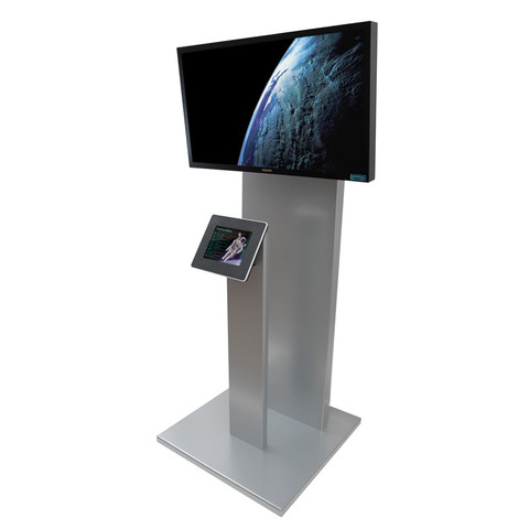 Standalone iPad Kiosk with Tower for Large-Screen Monitors | iPadKiosks.com