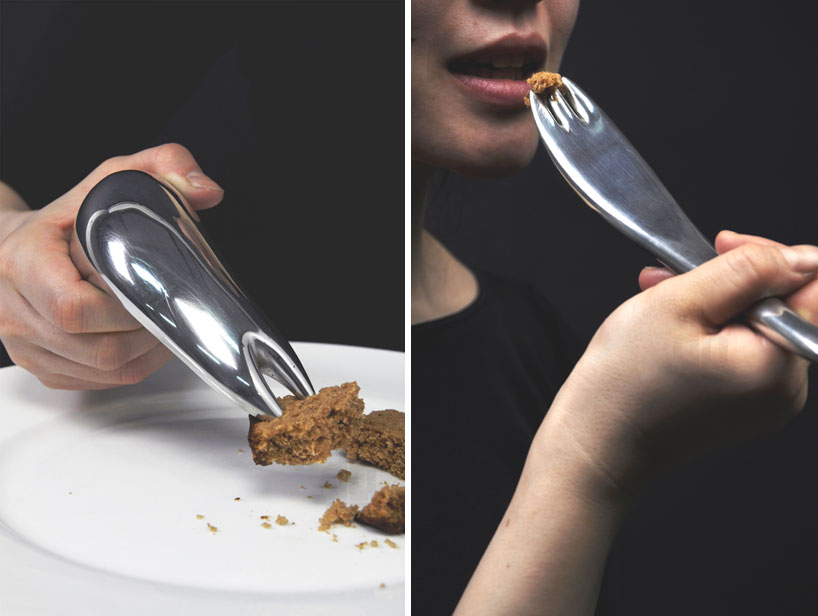cutlery that aids dexterity - transitions by mickael boulay