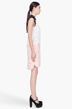 Marni | People-print silk-crepe and cotton dress | NET-A-PORTER.COM